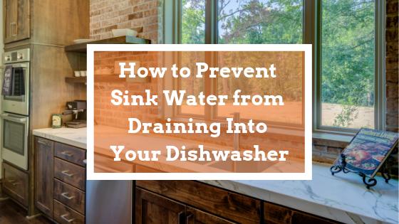 sink water dishwasher