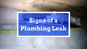 common signs of leak